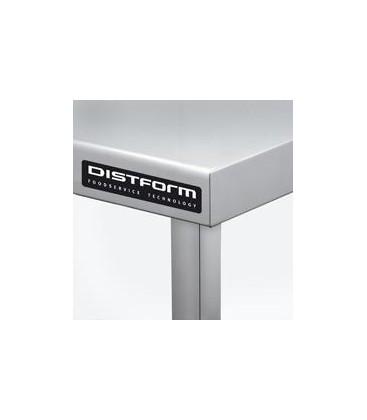 MESA MURAL CON ESTANTE  ACERO INOX 2000 X 600 X 850